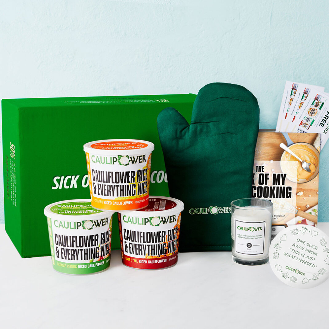 Introducing The 'Sick Of My Own Cooking' Box, filled with all of your CAULIPOWER essentials and perfect for when literally just can't anymore.