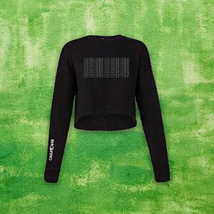 """LIVE LIFE ON THE VEG"" Crop Crewneck Sweater"