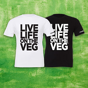 """LIVE LIFE ON THE VEG"" Bold T-Shirt"