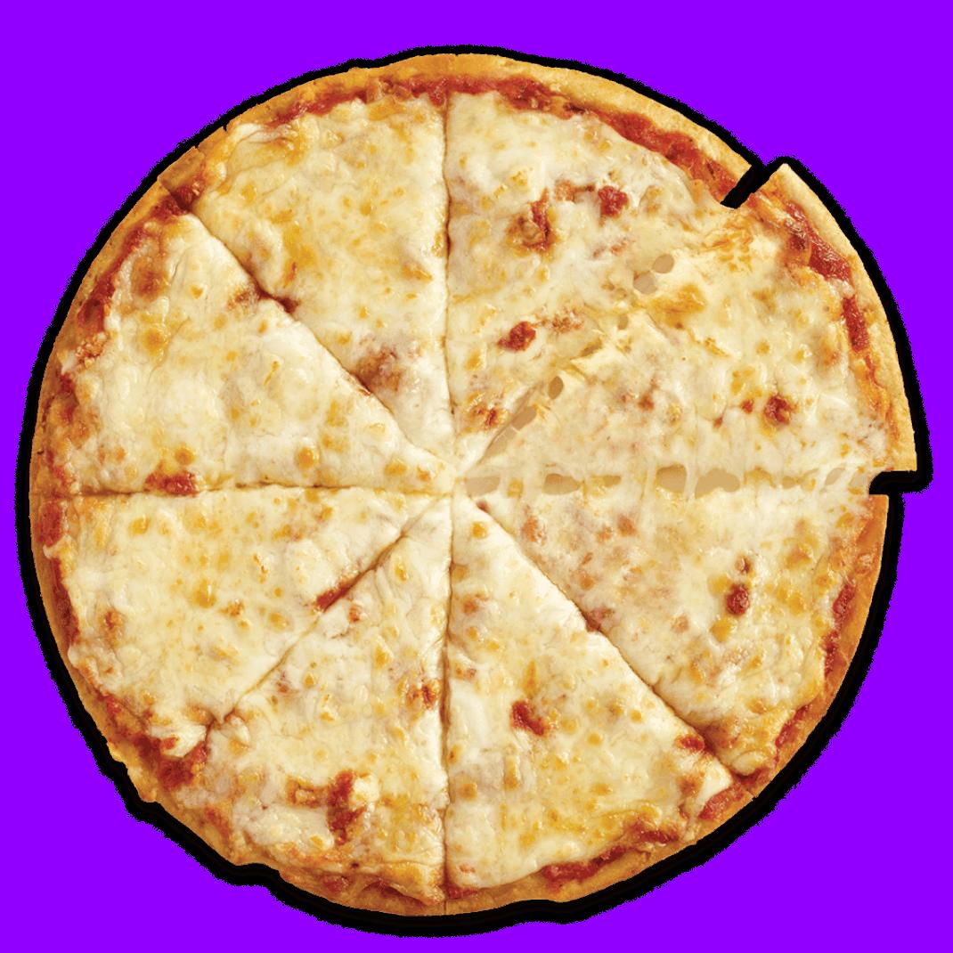 Arial view of a Three Cheese Cauliflower Crust Frozen Pizza from CAULIPOWER