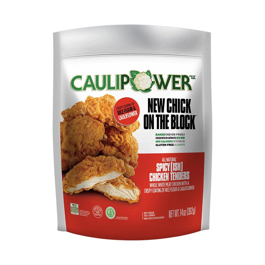 Spicy(ish) chicken tenders packaging - CAULIPOWER