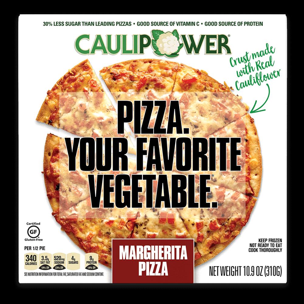Margherita  Frozen Cauliflower Pizza Packaging Box from CAULIPOWER