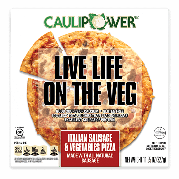 Italian Sausage & Vegetables Cauliflower Crust Pizza