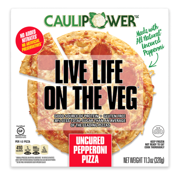 Box of Caulipower Frozen Pepperoni Pizza