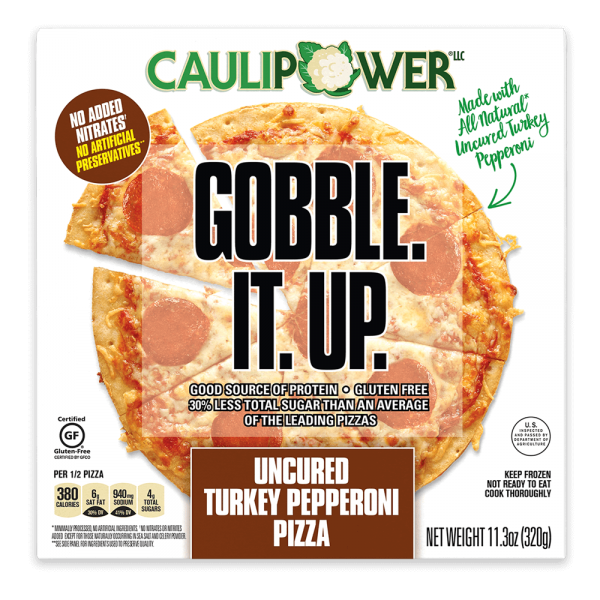 Uncured Turkey Pepperoni Cauliflower Crust Pizza