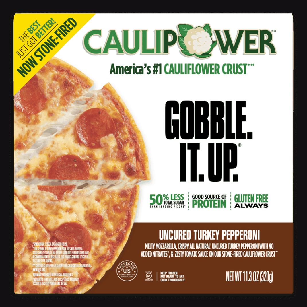 Uncured Turkey Pepperoni Stone-fired Cauliflower Crust Pizza