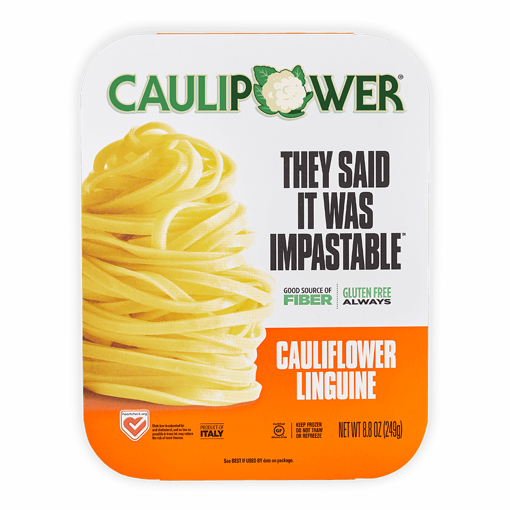 A CAULIPOWER Linguine cauliflower pasta package
