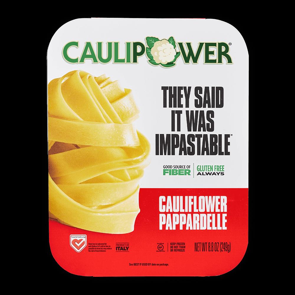 A CAULIPOWER Pappardelle cauliflower pasta package
