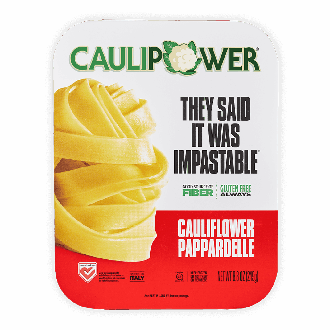 A CAULIPOWER Pappardelle cauliflower pasta package