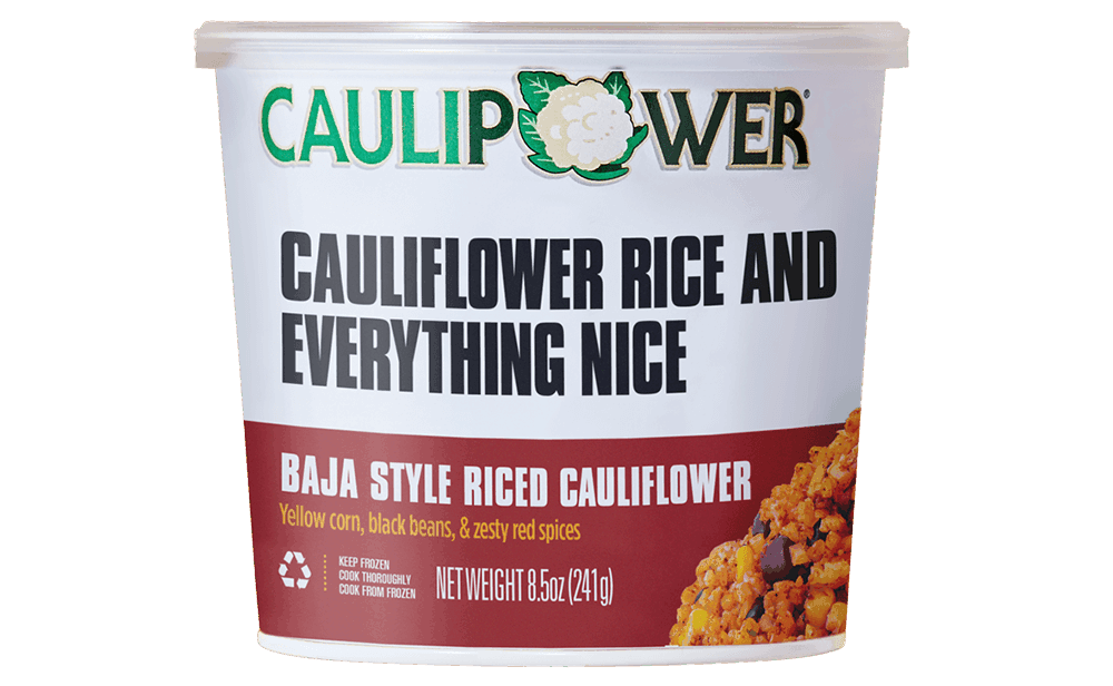 Baja Riced Cauliflower Cup Packaging from CAULIPOWER