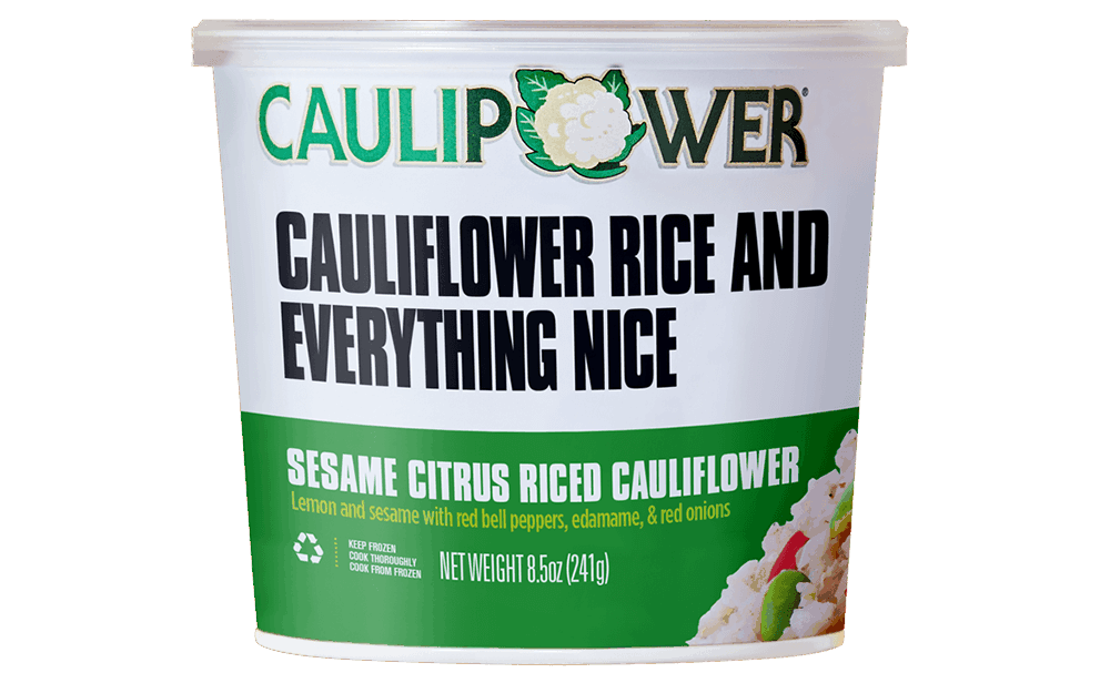 Sesame Riced Cauliflower Cup Packaging from CAULIPOWER