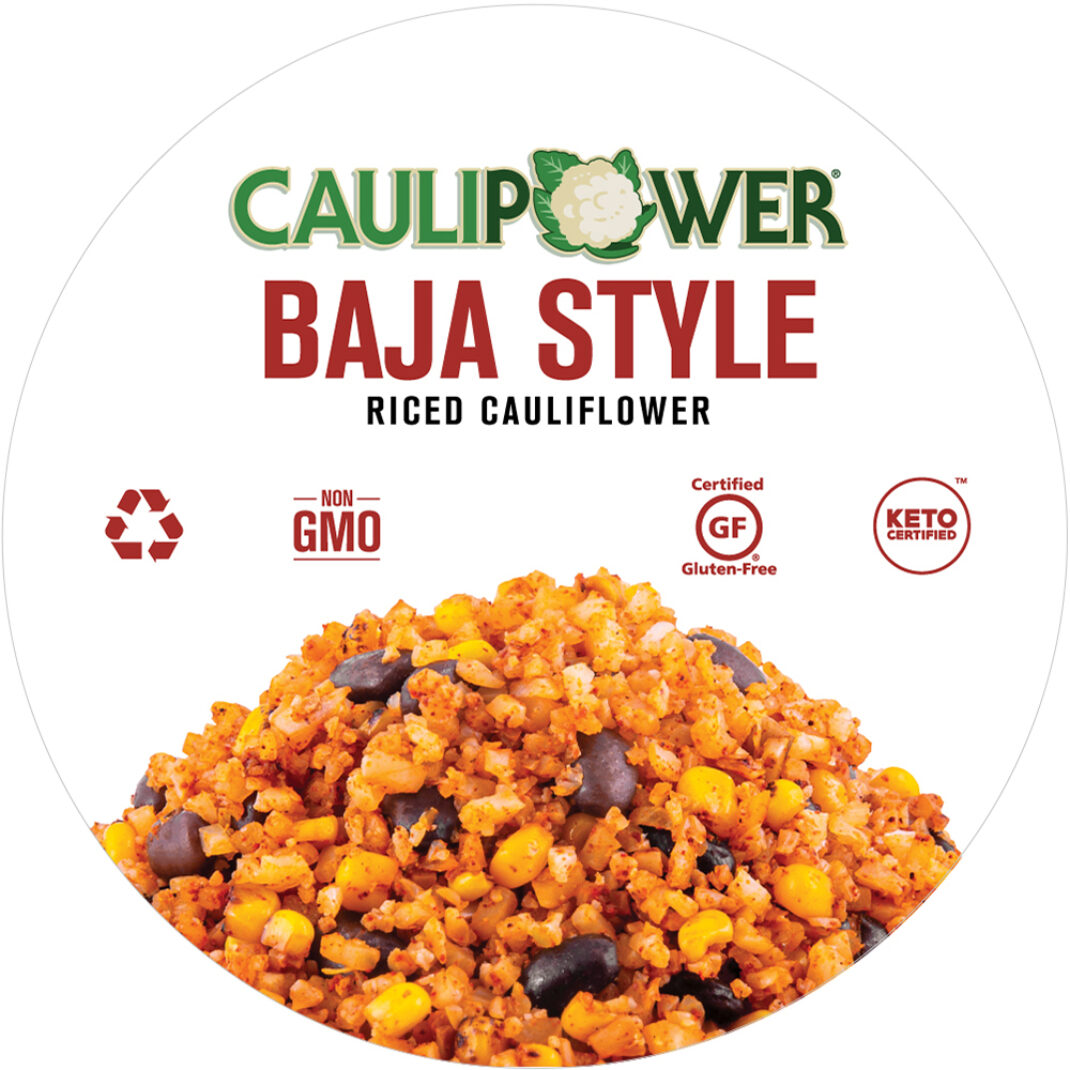 Baja Style Riced Cauliflower Cup Label from CAULIPOWER