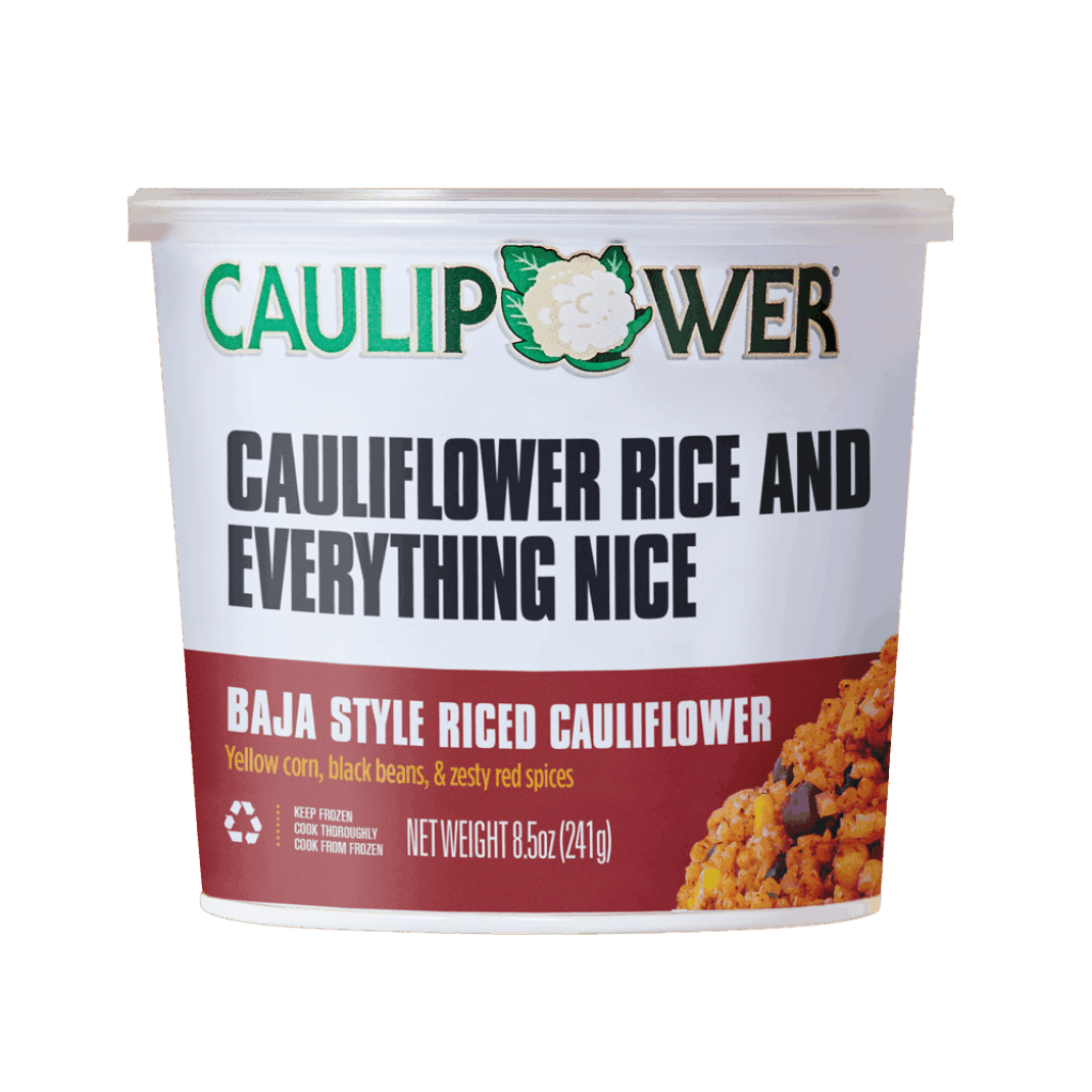 Baja Style Riced Cauliflower Cup Packaging from CAULIPOWER