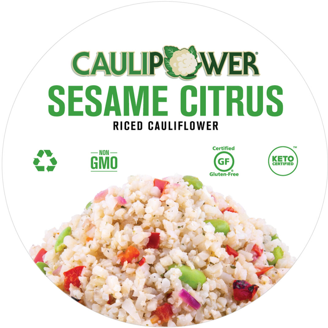 Sesame Citrus Riced Cauliflower Cup Label from CAULIPOWER