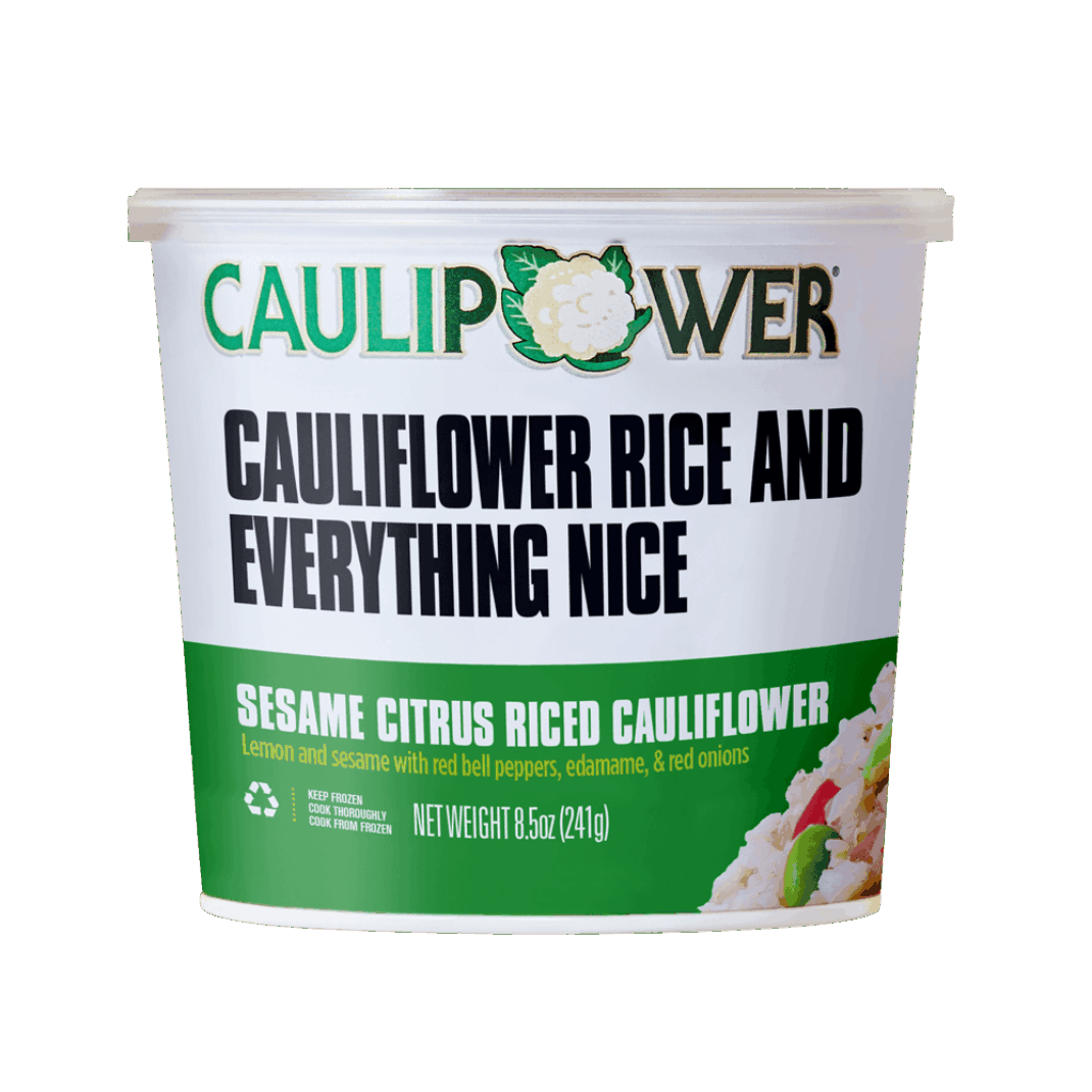 Sesame Citrus Riced Cauliflower Cup Packaging from CAULIPOWER