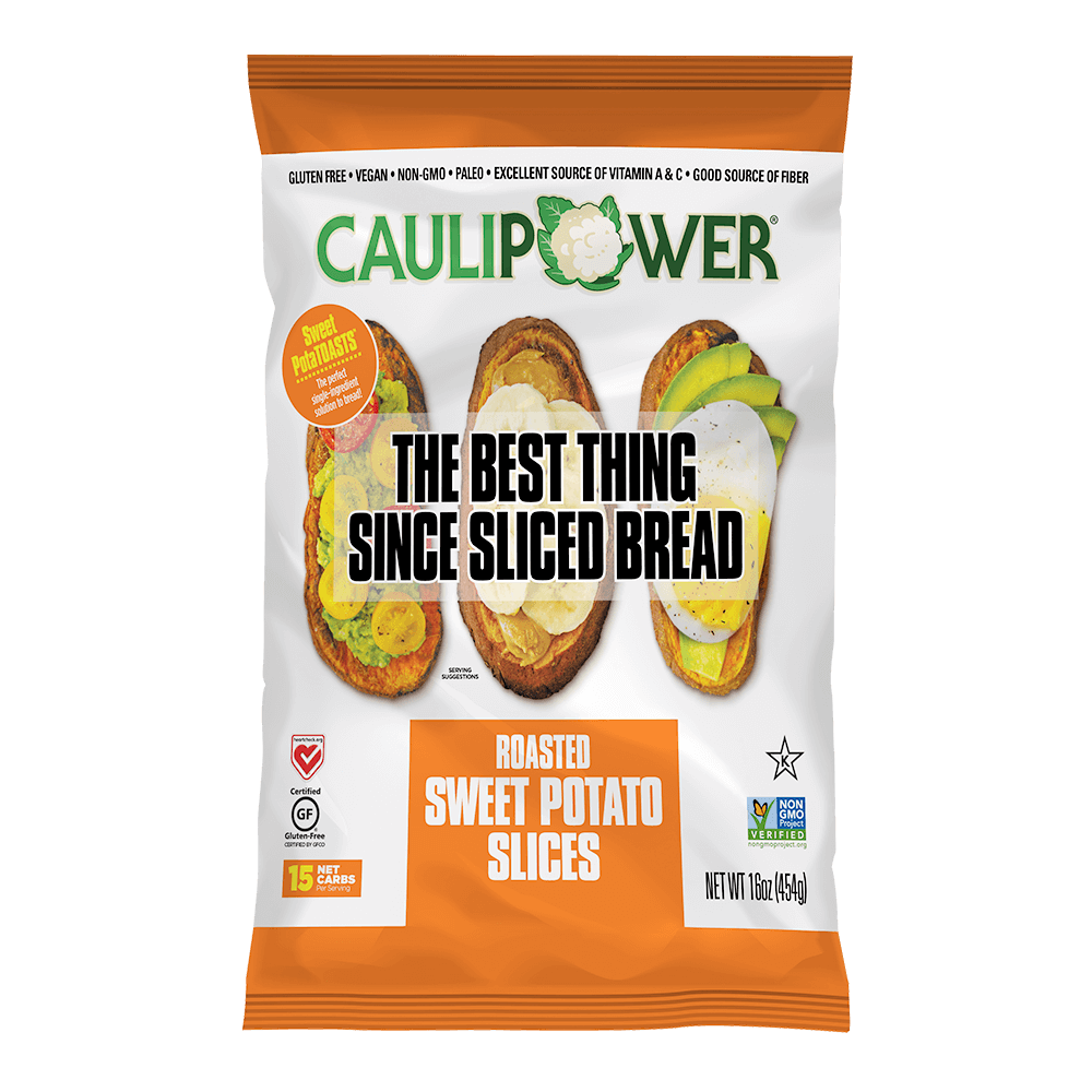 Original Sweet PotaTOAST Packaging from CAULIPOWER