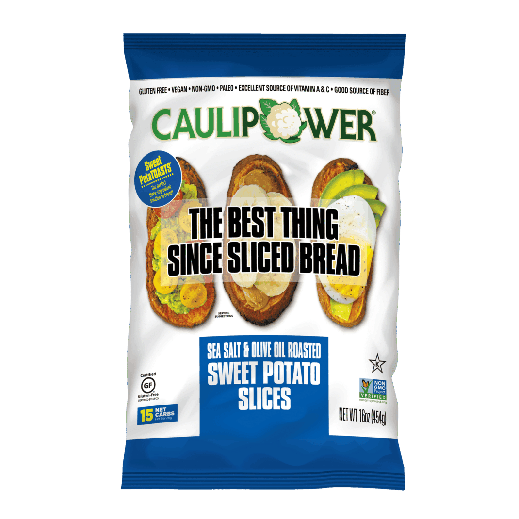 Sea Salt Sweet PotaTOAST Packaging from CAULIPOWER