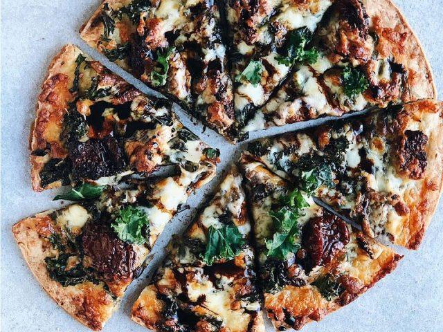 Kale & Sun-Dried Tomato Pizza