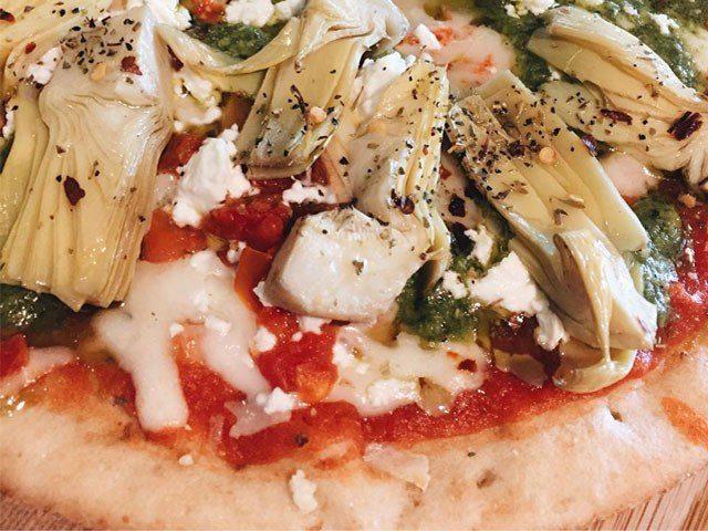 Artichoke & Pesto Pizza