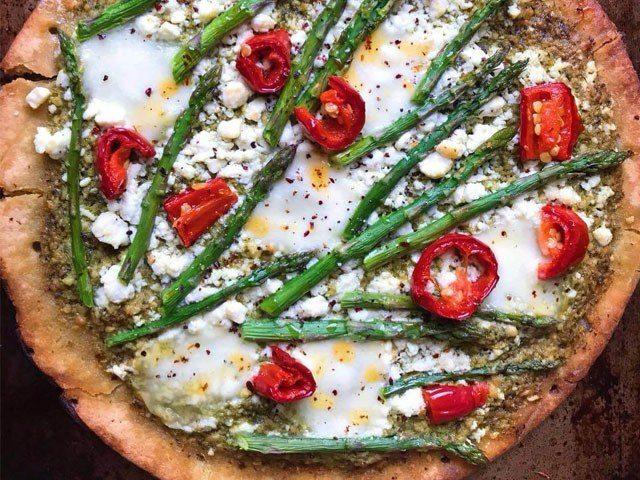 Roasted Asparagus & Chili Pizza
