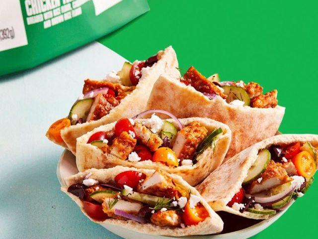 Greek Salad Pita Pockets with CAULIPOWER Chicken Tenders