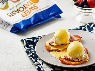 Sweet Potato Eggs Benedict with Sweet PotaTOASTS